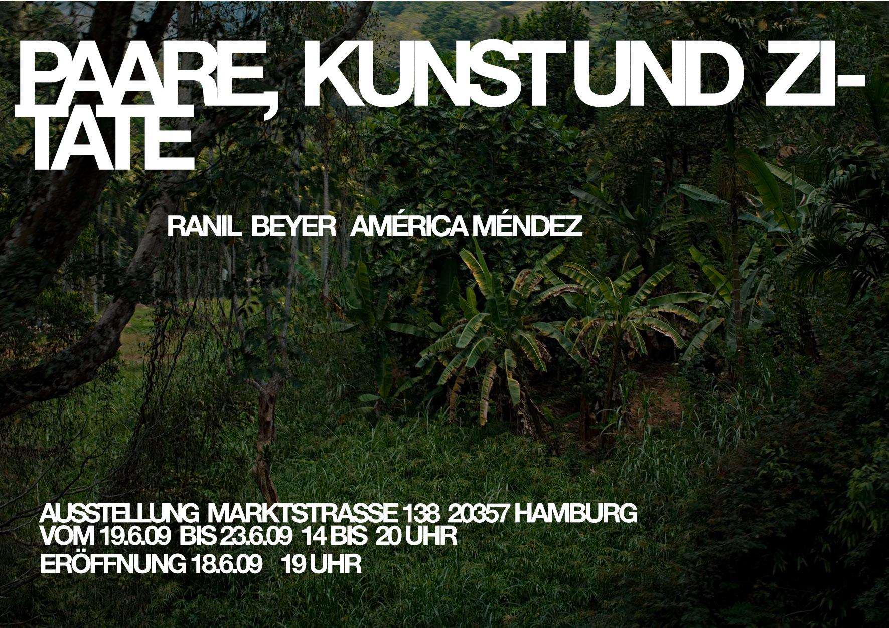 America Mendez und Ranil Beyer Ausstellung: Paare Kunst und Zitate